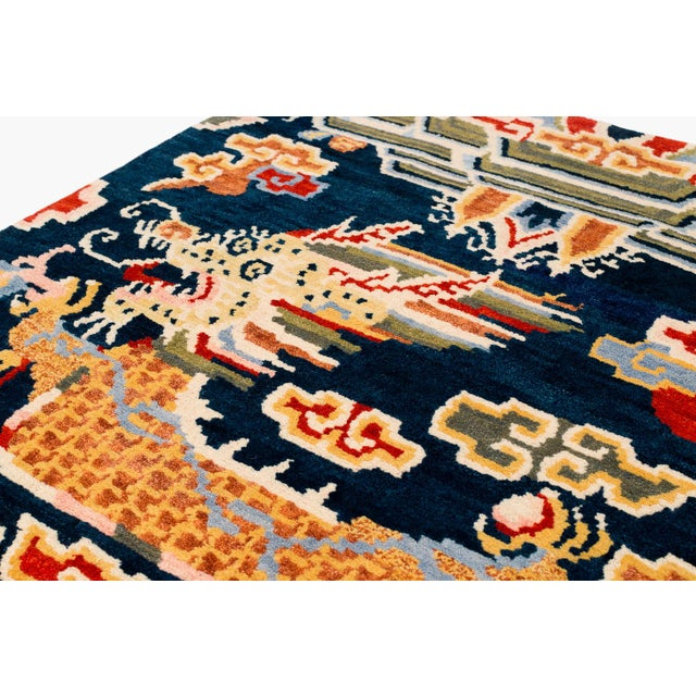 2010s Tibetan Dragon Area Rug-3′ × 6′ For Sale - Image 5 of 8