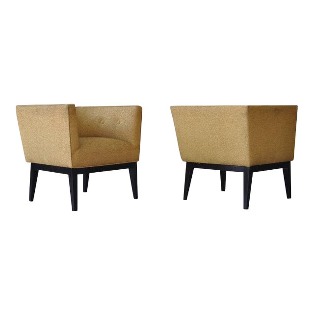 Pair of 1950s Cube Chairs For Sale