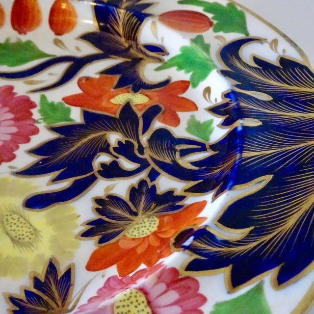 19th Century Porcelain Plate With Decorative Floral Design For Sale - Image 9 of 10