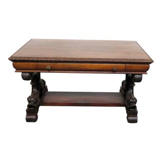 20th Century Renaissance R J Horner Style Dolphin Writing Desk For Sale