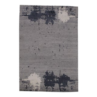 """Pasargad N Y Modern Pure Bamboo Silk Hand Knotted Area Rug - 5'7"""" X 8'2"""" For Sale"""
