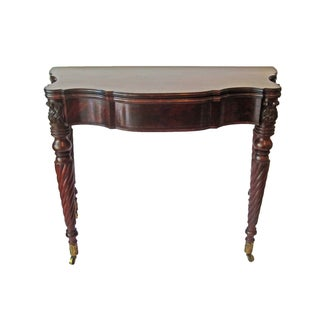Mahogany American Game Table C. 1810 For Sale