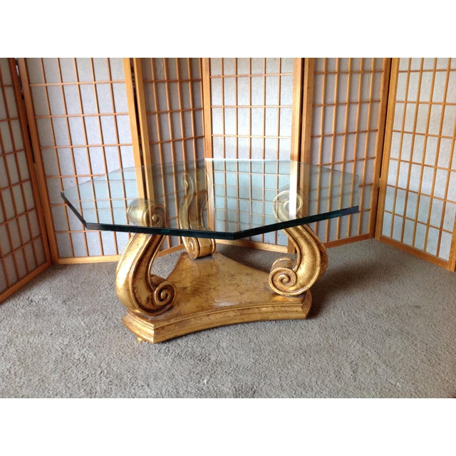 Gold & Glass Coffee Table