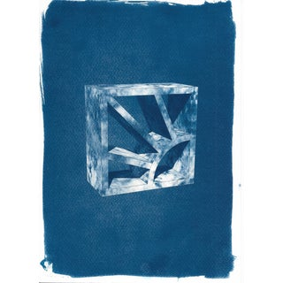 Limited Serie Cyanotype Print on Watercolor Paper, Screen Brick or Breeze Block
