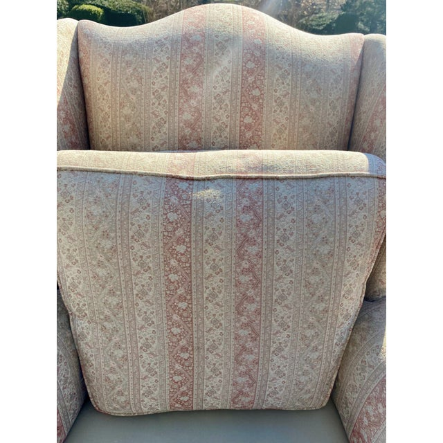 English Hickory Chair Company English Style Wingback Chair For Sale - Image 3 of 8