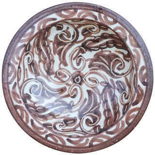 Moroccan Ceramic Plate W/ Moorish Pattern For Sale
