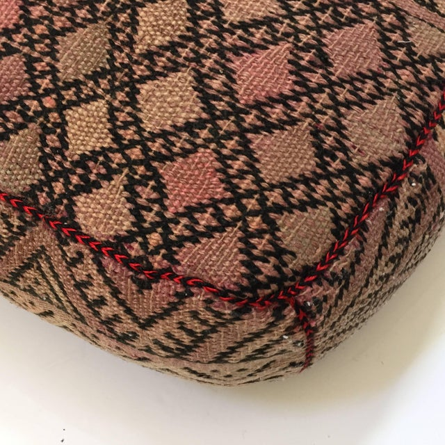 Vintage Moroccan Tribal Floor Pillow For Sale - Image 4 of 13