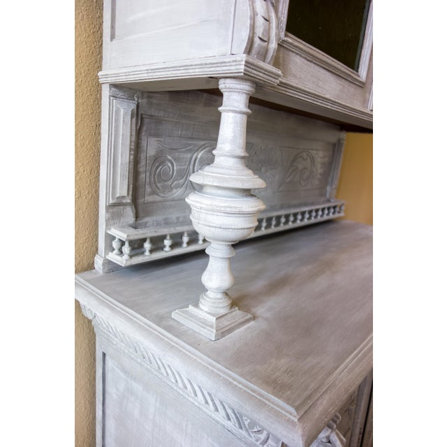 Renaissance Revival Painted Carved Sideboard - Image 6 of 11