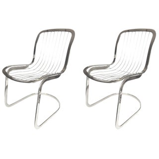 Vintage Chrome Cidue Side Chairs - a Pair For Sale