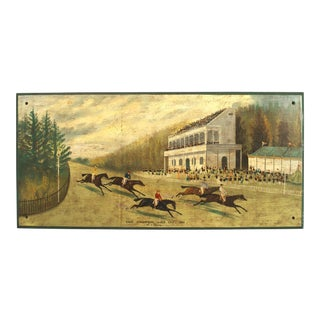 English Steeplechase Painting For Sale