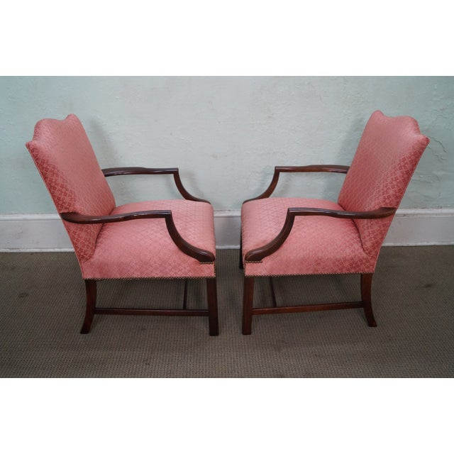 Antique 1930 Chippendale Armchairs - A Pair - Image 2 of 10