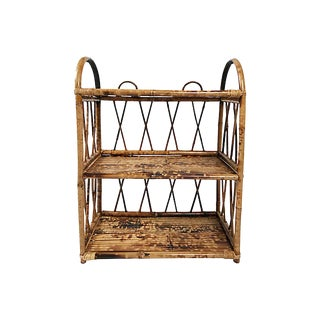 Burnt Bamboo Wall Shelf For Sale