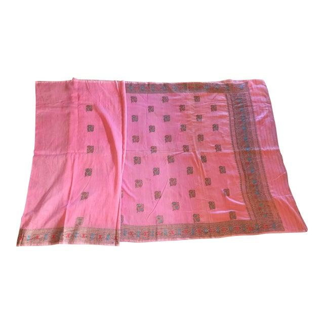 Pink Sari Fabric - Image 1 of 5