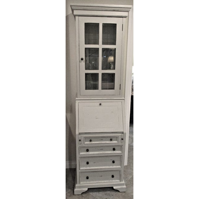 White Cottage Narrow White Secretary Desk For Sale - Image 8 of 8