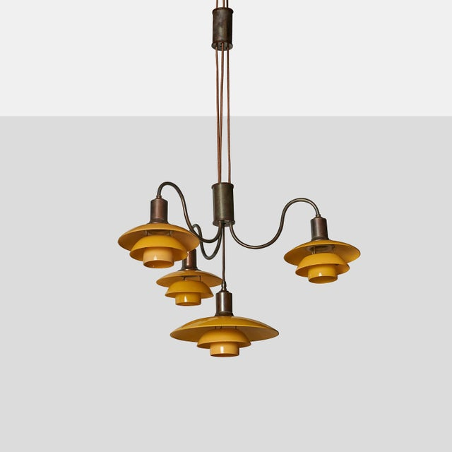 """Emperor"" Suspension Chandelier by Poul Henningsen An adjustable height ""Emperor"" chandelier by Poul Henningsen. The..."