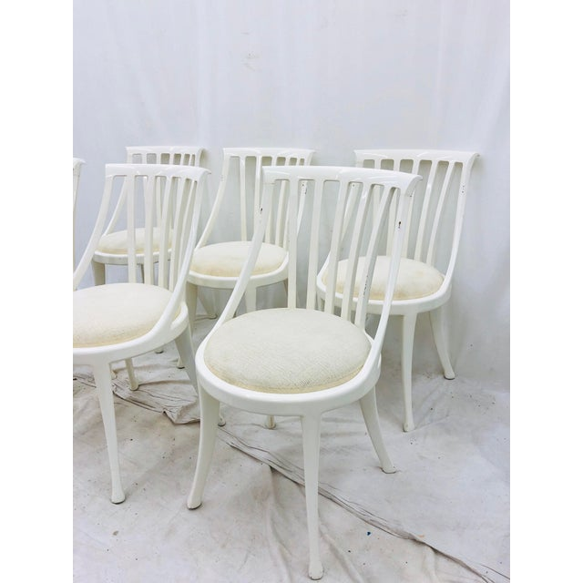 Set Vintage Poltrona Frau Dining Chairs For Sale - Image 12 of 13