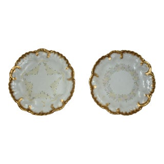 19th Century Limoges Porcelain Dishes, Signed - a Pair For Sale