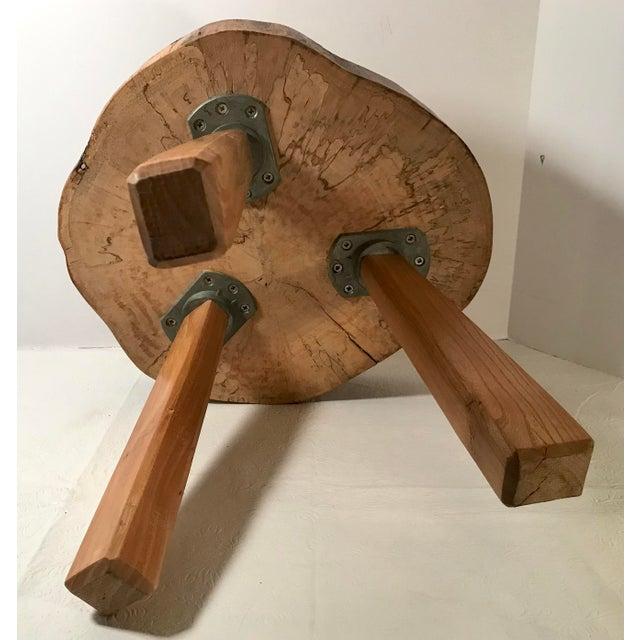 Wood Vintage Mid Century Wood Butcher Block Stool For Sale - Image 7 of 8