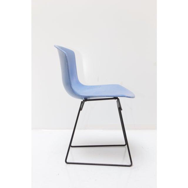 Knoll Bertoia Fiberglass Side Chair Blue - Image 3 of 11