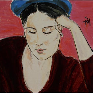 """""""Thinking"""" Contemporary Painting by Sarah Myers For Sale"""