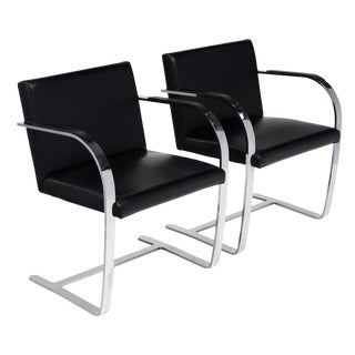 Pair of Brno Armchairs in the Style of Mies Van Der Rohe For Sale