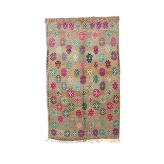 Boujad Vintage Moroccan Wool Rug - 6'3 X 10' For Sale