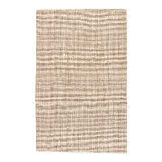 "Jaipur Living Mayen Natural Solid White & Tan Runner Rug - 2'6""x9' For Sale"