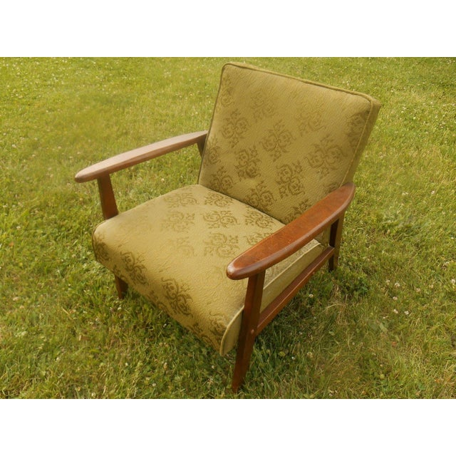 Danish Modern Olive Green Lounge Chair - Image 5 of 6