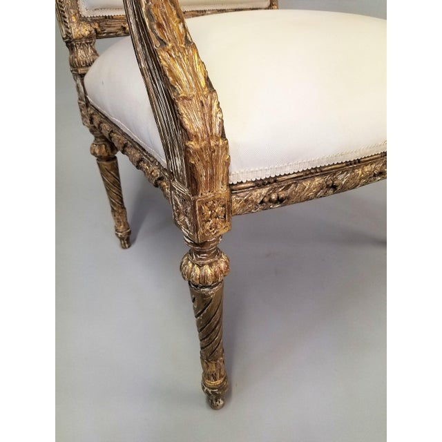 C. 1910 French LXIV Style Pair of Arm Chairs For Sale In Chicago - Image 6 of 8