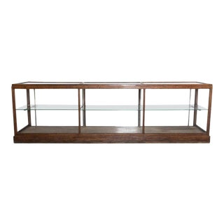 1930s French Oak Vitrine For Sale