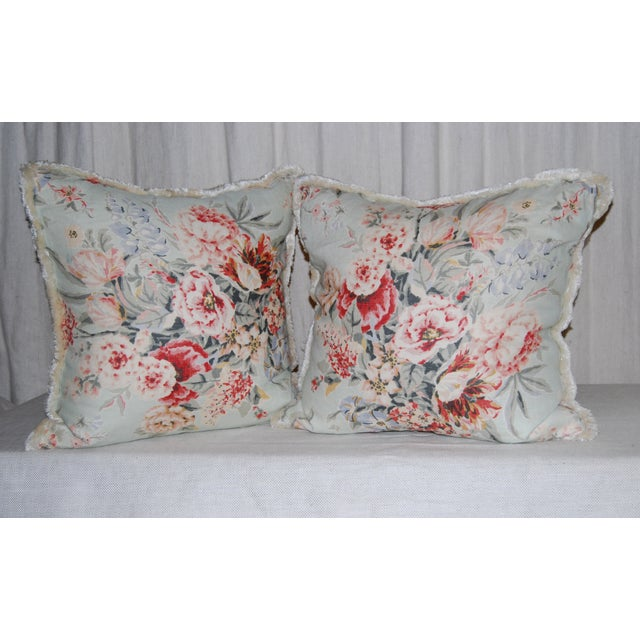 Travers Floral Pillows - Pair - Image 2 of 4