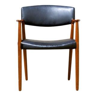 1960s Vintage Ejnar Larsen Aksel Bender Madsen Arm Chair For Sale
