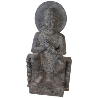 Granite Sitting Buddha, India, Early 1900s For Sale
