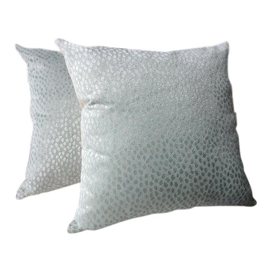 """Thibaut Anna French """"Spot On"""" Blue Pillows - a Pair For Sale"""