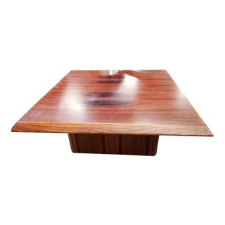 Vintage Danish Modern Vejle Stole Mobelfabrik Rosewood Pedestal Base Coffee Table For Sale
