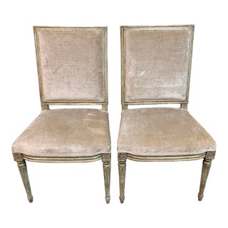 Vintage Louis XVI Style Side Chairs- a Pair For Sale