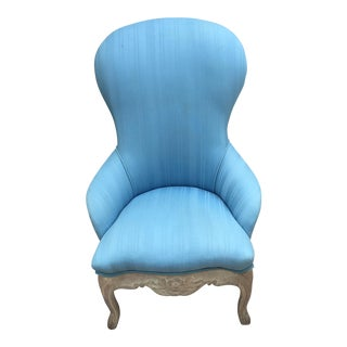 Vintage French Country Robins Egg Blue Chair For Sale