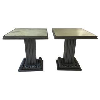 Pair of 1940s Grosfeld House Column Tables For Sale