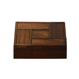 Chinese Huali Rosewood 4 Drawers Storage Box Accent For Sale