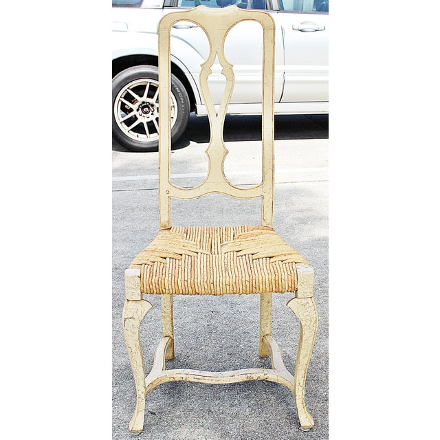1960s Vintage Painted Dining Chairs- Set of 8 For Sale - Image 4 of 13
