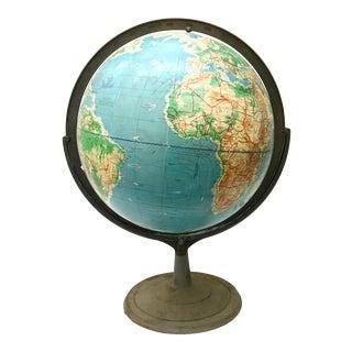 Large 1960s Vintage Industrial Globe