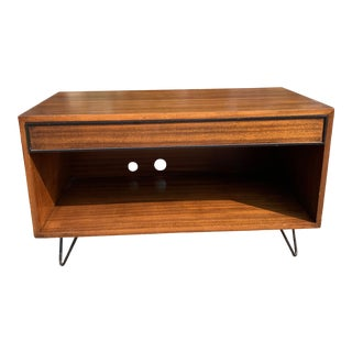 1960s Mid Century Modern Wooden Media Console For Sale