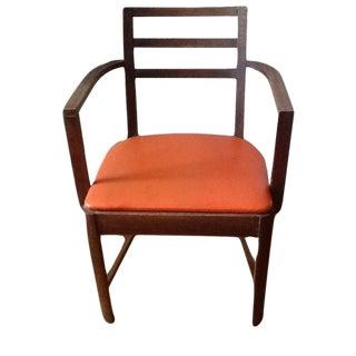 Mid-Century Orange Dining Chair
