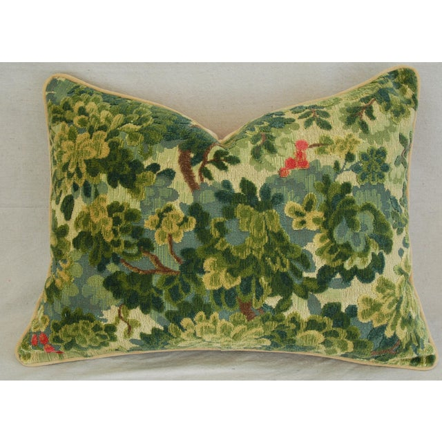 Custom-Tailored Scalamandre Velvet Marly Pillows - Pair - Image 6 of 11