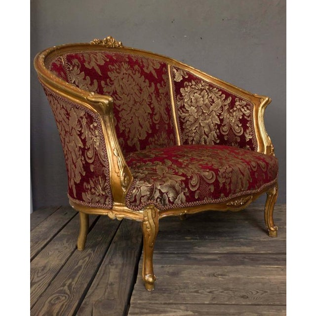 Gilt Rococo Style Marquise - Image 2 of 10