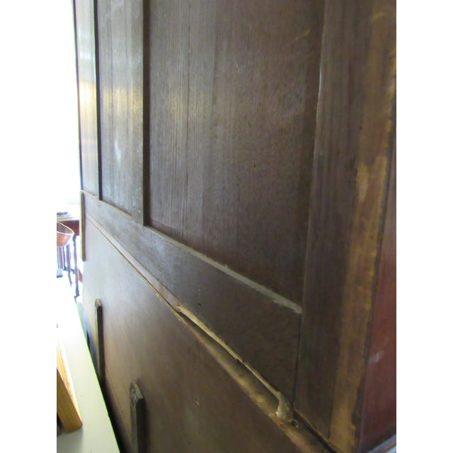 1900 French Walnut China Cabinet For Sale - Image 10 of 13