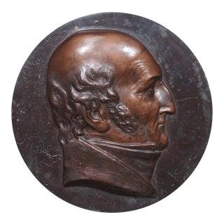 Antique French Bronze Portrait For Sale