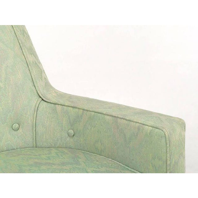 Pair of Classic Barrel-Back Club Chairs in Ikat Upholstery - Image 5 of 7