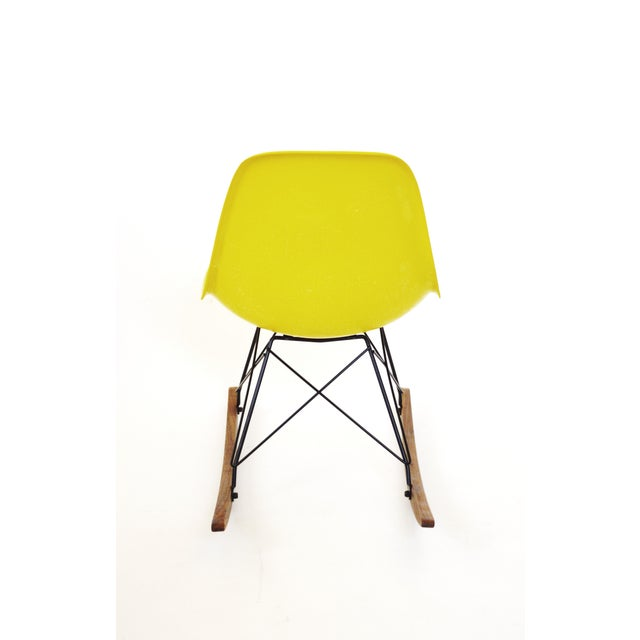 Herman Miller Yellow Fiberglass Rocking Chair For Sale - Image 5 of 8