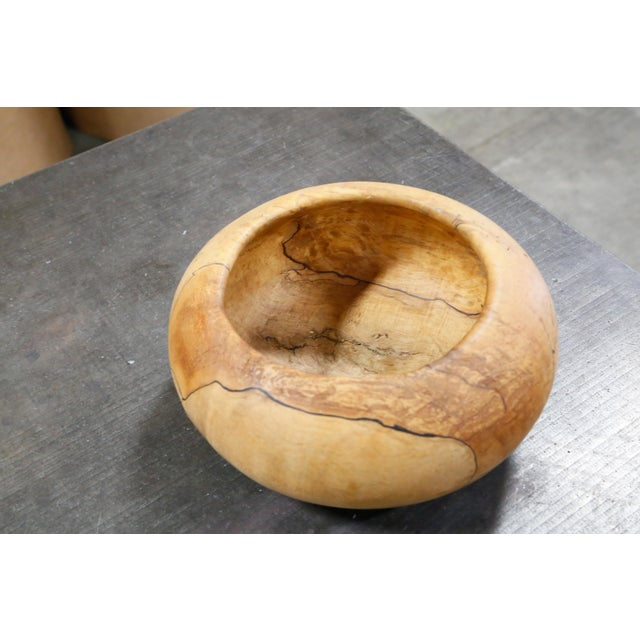 Mark Lindquist Turned Spalted Maple Bowl - Image 4 of 6